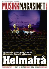 Musikkmagasinet 14. oktober 2013. Magasincover. Layout. Grafisk design. Graphic design. Magazine cover. Editorial design. Redaksjonell design.