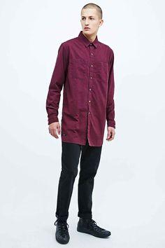 Son of Wild Tokyo Longline Shirt in Maroon