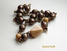 Dolce vita - náhrdelník náhrdelník dárek vintage ketlovaný starobylý skleněné korálky broušené korálky