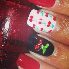 """""""Cherry on Top""""  3D Nail Art Jewels available on our website www.nailcandi.co.za The ONLY reusable nail art available! #3DNailArt #NailArtCharms #NailCandy"""