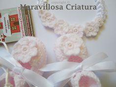 Bailarinas bebé rosa y la cinta de pelo de flores  de Maravillosa Criatura por DaWanda.com