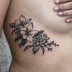 The Gorgeous Flower Tattoos Of Olga Nekrasova