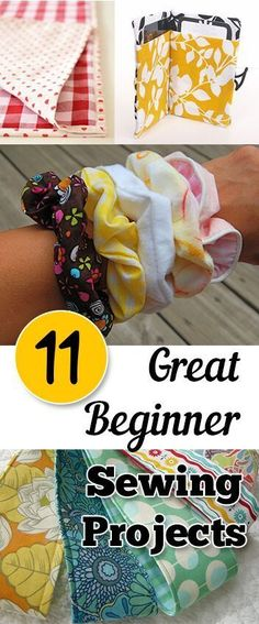 11 perfect ideas for a beginner seamstress. Cuz one day I should really re-learn to use my sewing machine!
