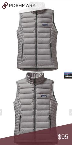 Patagonia Down Sweater Vest *ONLY WORN ONCE Durable shell fabric is made of 100% recycled polyester ripstop treated with a DWR (durable water repellent) finish 800-fill-power Traceable Down (goose down traced from parent farm to apparel factory to help ensure the birds that supply it are not force-fed or live-plucked) Contoured fit and narrow horizontal quilt lines on side panels accommodate for movement and maintain loft to reduce drafts Center-front Vislon® zipper has wicking interior…