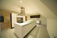 Cool vent hood in this kitchen