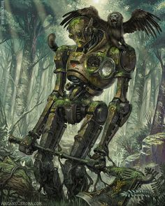 Steampunk artwork - What the past would look like if the future had happened sooner. Arte Robot, Robot Art, Cthulhu, Fantasy Character Design, Character Art, Robots Steampunk, Steampunk Theme, Dungeons And Dragons Homebrew, Robot Concept Art