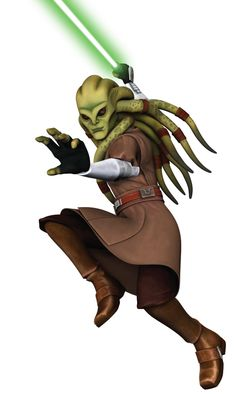 Kit Fisto during the Clone Wars.