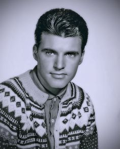 Ricky Nelson- so good looking in this picture, I will overlook the sweater. :-)