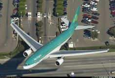An very close and low encounter with the Irish Airline. She wears a very appropriate registration too! This photo gives a lot of details of LAX surroundings!
