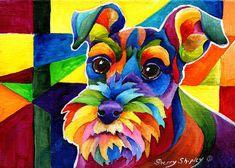 Schnauzer by Sherry Shipley - Schnauzer Painting - Schnauzer Fine ...