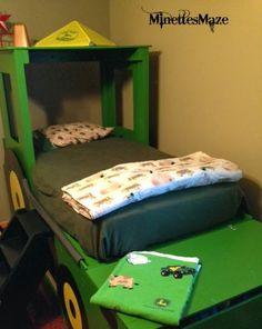 john deere room diy tractor bed with toy box built in more john deere