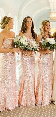 Rose Gold Sequin Mermaid Custom Long Bridesmaid Dresses, WG227 – QueenaBridal #bridesmaid#bridesmaiddresses#longbridesmaiddresses#wedding#2020bridesmaiddresses#simplebridesmaiddresses#cheapbridesmaiddresses#modestbridesmaiddresses#bridesmaiddressesmismatched#bohobridesmaiddress Bridesmaid Dresses Mismatched Boho, Champagne Bridesmaid Dresses, Cheap Bridesmaid Dresses, Cheap Dresses, Wedding Dresses, Pink Wedding Colors, Dress Backs, New Dress, Sequins
