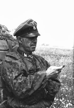 """SS-Sturmbannführer Vinzenz """"Zenz"""" Kaiser (Kommandeur III.Bataillon / SS-Panzergrenadier-Regiment 4 """"Der Führer"""")"""