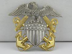 WW II Naval Officers Hat Medalion
