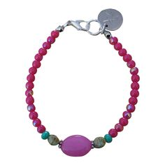 Armband Zilver - Small Stone Pink
