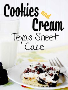 The Worlds Best Cookies and Cream Texas Sheet Cake!!! Recipe