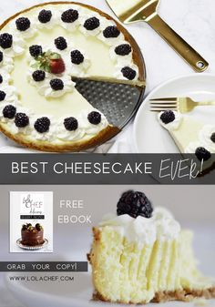 This delicious cheesecake recipe is available in my FREE desserts ebook. Fudgy Brownie Recipe, Brownie Recipes, Chocolate Recipes, Cookie Recipes, Dessert Recipes, Homemade Peanut Butter Cups, Homemade Whipped Cream, Best Cheesecake, Cheesecake Recipes
