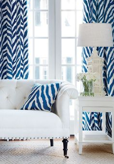 Kendall Sofa from Thibaut Fine Furniture in Cabo Cotton woven fabric in Pearl Blue Home Decor, White Decor, Blue Rooms, White Rooms, Brown Interior, Chinoiserie Chic, Upper East Side, Fine Furniture, My Living Room
