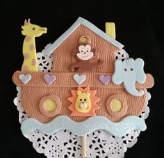 Noah's Ark Birthday , Arks Party Decoration, 6 Noah's Ark Centerpieces, Animal Decoration Picks