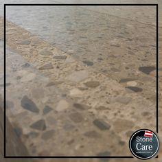 Sichtbeton Terrazzo mit Sicherheitsstreifen. Stylish - up to date!  Imprägniert mit StoneFinish Spezialimprägnat Terrazzo, How To Dry Basil, Up, Herbs, Stone, Rock, Herb, Stones, Batu