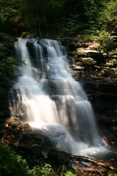 Waterfalls in Ricketts Glen State Park.