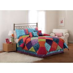 $79  Kashmere Gem Full / Queen Comforter With 2 Shams