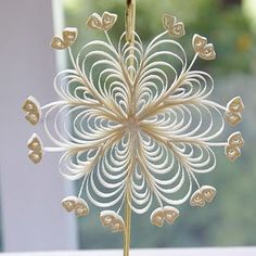 Paper quilling - snowflake by catrulz