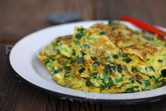 Chives Omelet (韭菜煎蛋) | Easy Asian Recipes at RasaMalaysia.com
