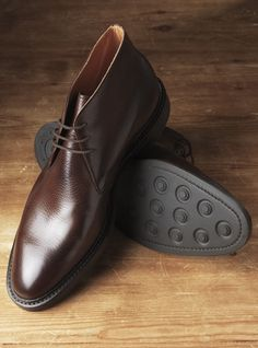 The Brecon Chukka Boot in Dark Brown Leather Chukka Boots, Leather Shoes, Half Shoes, Official Shoes, Crockett And Jones, Dress Shoes, Men Dress, Mens Boots Fashion, Mens Gear