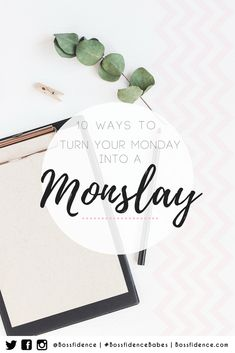 Your Monday's bringing you down? Find our how to slay your Monday's to boost mental clarity and motivation for the upcoming work week! Journal Organization, Work Productivity, Work Motivation, Work Week, Work Inspiration, How To Stay Motivated, Getting Things Done, Self Improvement, Bring It On