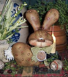 Patti/'s Ratties Easter Egg Spring Bunny Rabbit Doll Ornie Paper Pattern #406