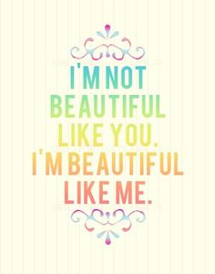 I may not be the prettiest of women but it is what is on the inside that makes some of us pretty!