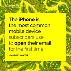 The iPhone is the most common mobile device subscribers use to open their email for the first time. #ifactory #ifactorydigital  #emailmarketing #digitalmarketing #digital #edm #marketing #statistics  #email #emails
