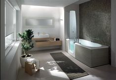 Awesome 13 Unique Bathtub Design Ideas For Modern Bathroom Decoration Unique bathtub design ideas will make your bathroom cooler. Modern bathroom designs will certainly feature a contemporary design so that all the eleme. Modern Bathrooms Interior, Contemporary Bathroom Designs, Modern Bathroom Decor, Modern Bedroom Design, Bathroom Furniture, Small Bathroom, Modern Design, Bathroom Ideas, Contemporary Design