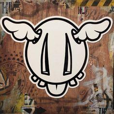 DFace via http://instagram.com/dface_official  #Graffiti #Sticker #DFace