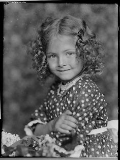 +~+~ Vintage Photograph ~+~+  Simply adorable curly haired cutie from the studios of Šechtl & Voseček.