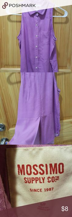 Mossimo purple button down Item:  purple button down  Brand: mossimo  Size: small Condition: very good Mossimo Supply Co Tops Blouses