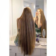 No shame in the weird ass faces I make while getting ready Long Dark Hair, Very Long Hair, Beautiful Long Hair, Gorgeous Hair, Hair Job, Long Hair Models, Ash Blonde Hair, Hair Lengths, Straight Hairstyles