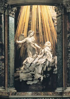 The Ecstasy of Saint Teresa by Bernini, Basilica of Santa Maria della Vittoria, Rome