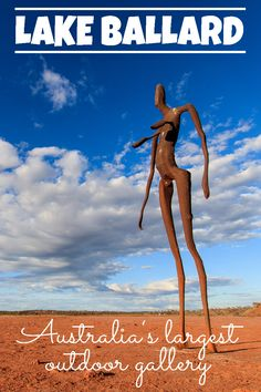 Lake Ballard is Australia's largest outdoor gallery. 51 sculptures have been installed on the bed of Lake Ballard over an area of 10 square kilometers.