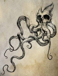 tentacles. skull