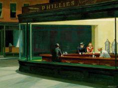 edward hopper | Download 'Nighthawks' By Edward Hopper Wallpaper—Free Wallpaper