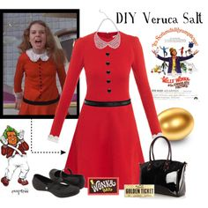 willy wonka costumes veruca | fashion look from October 2012 featuring Carven dresses, Crocs flats ...