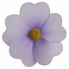 Purple nylon flower wall nursery room decor lavender