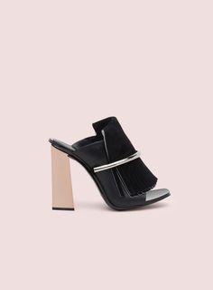Proenza Schouler Fringe Ring Open Toe High Heel Sandal