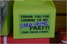 Incredible Hulk Party Favors www.spaceshipsandlaserbeams.com