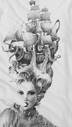 marie antoinette tattoo octopus - Google Search                                                                                                                                                                                 More
