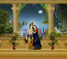 प्रेम-धुजा रसरुपिनी, उपजावन सुख पुंज। सुंदर स्याम बिलासिनी, नव वृन्दाबन कुंज।। Krishna Lila, Jai Shree Krishna, Radha Krishna Love, Radhe Krishna, Radha Krishna Wallpaper, Lord Krishna Images, Radha Krishna Pictures, Krishna Photos, Marriage Day Images