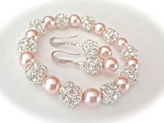 Set bracciale e orecchini di perle Chunky Swarovski perle | Etsy