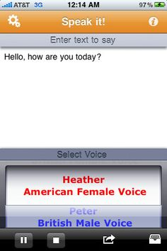 Text to speech book reader app